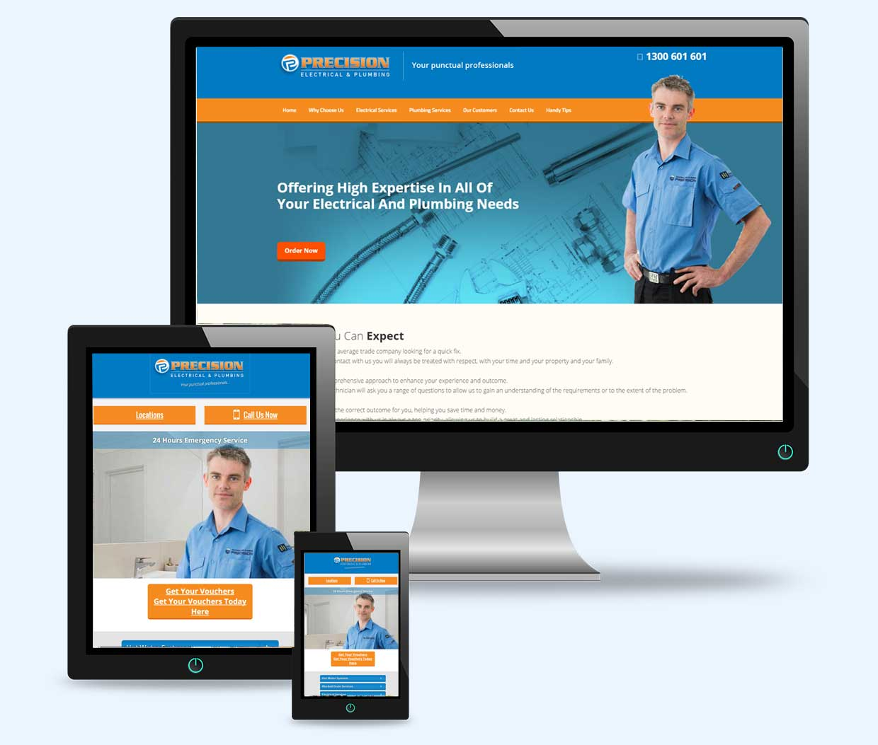 electrical and plumbing website design